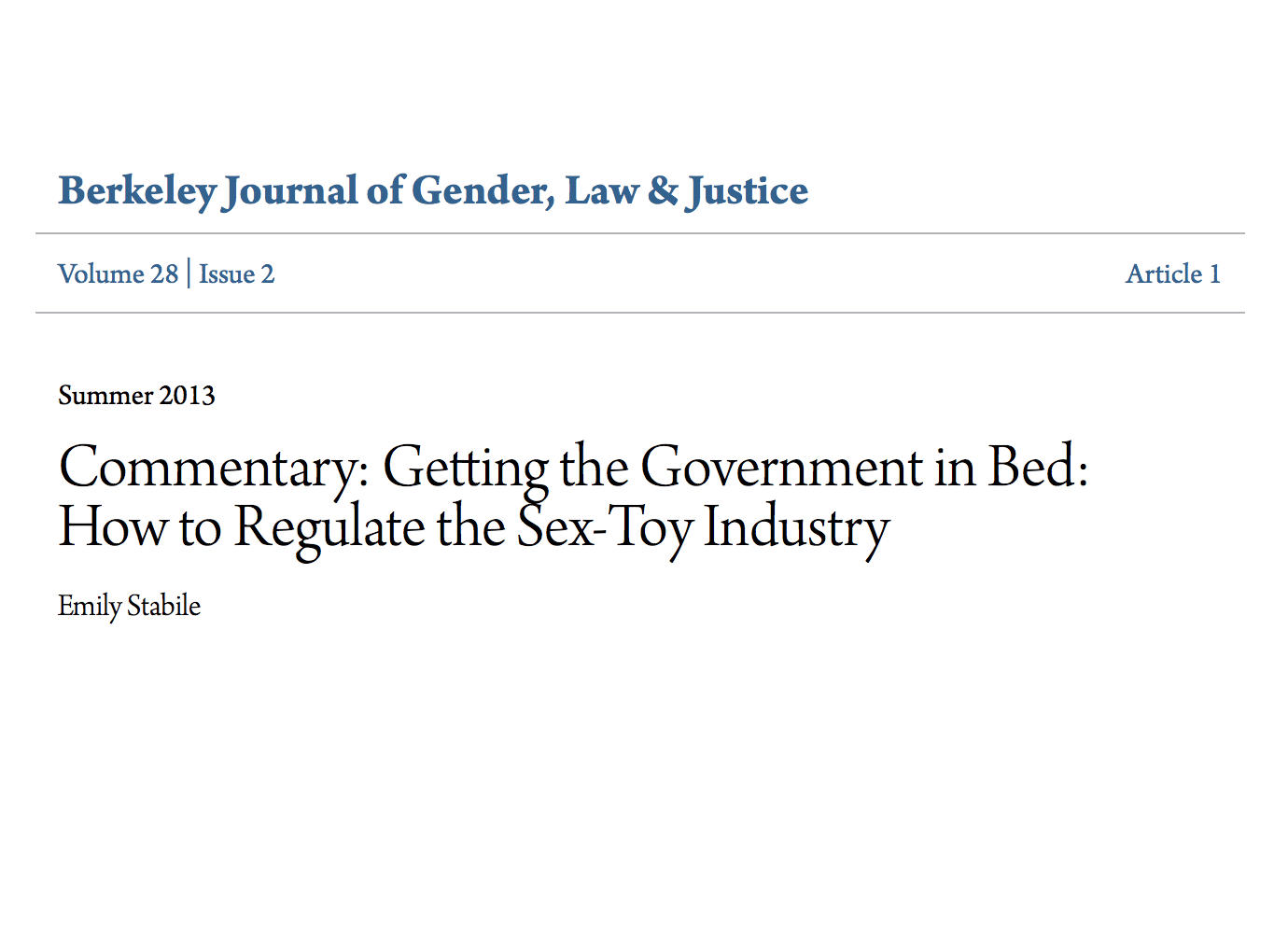 how to regulate sex toy industry